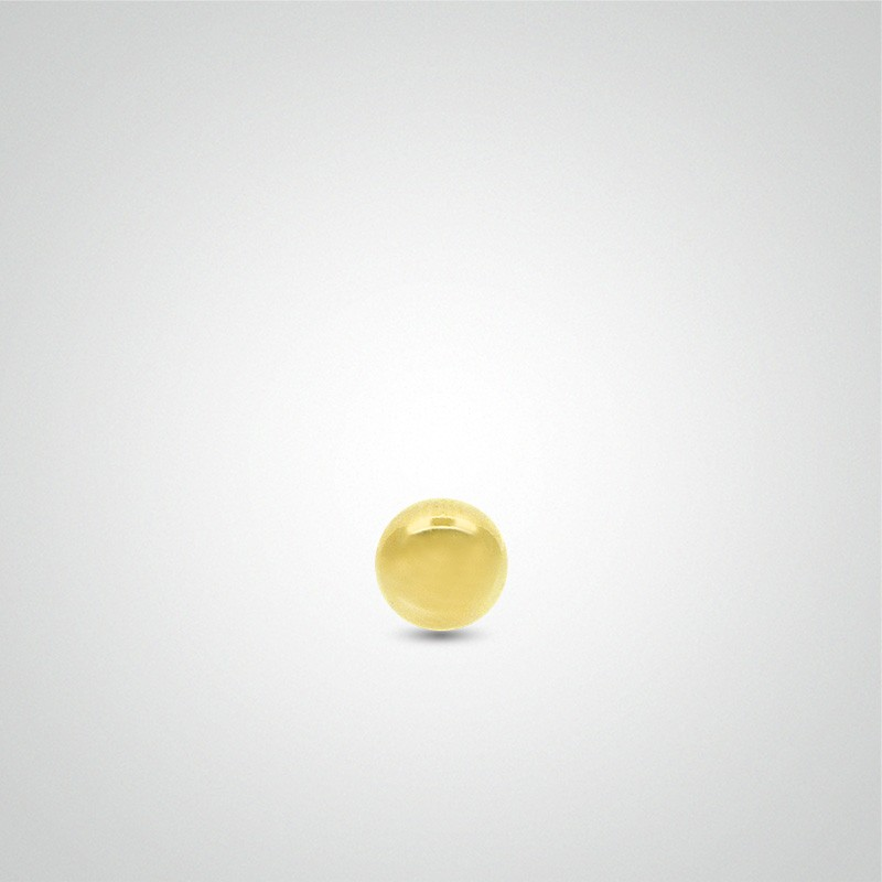 Boule de piercing en or jaune 18 carats (1,6mm)