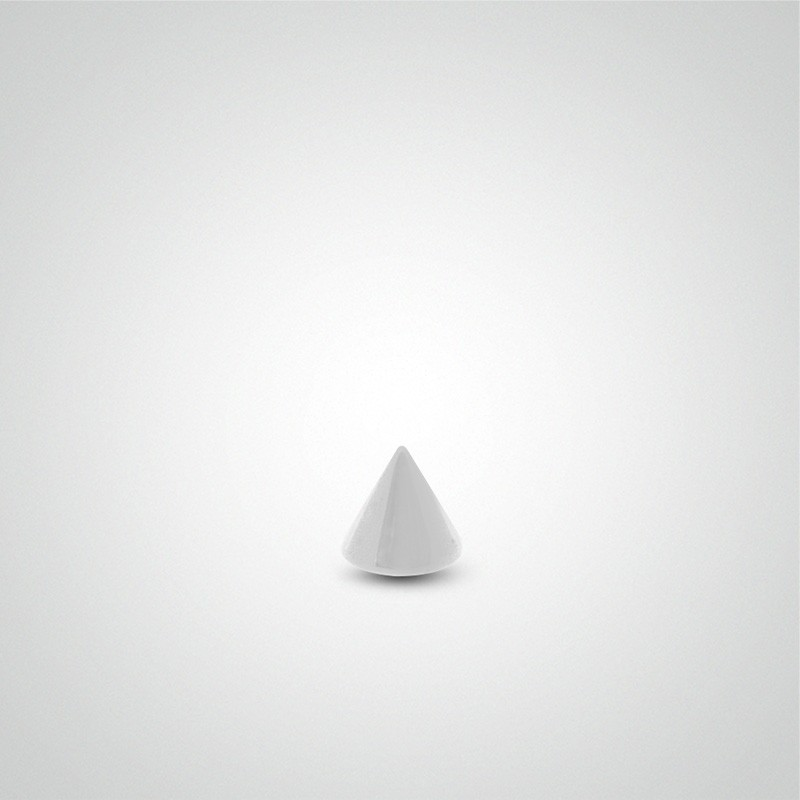 Pic de piercing en or blanc 18 carats (1,2mm)