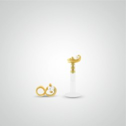 Piercing conch infini en or jaune